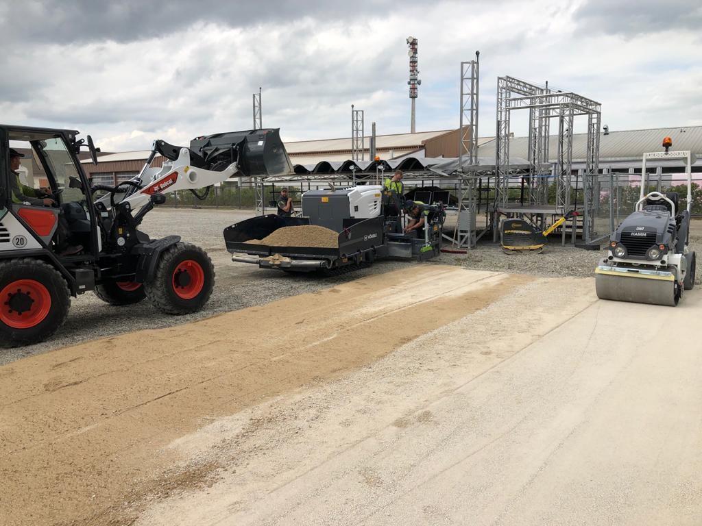 Schotterplanie für MODULAR-FESTIVAL am Gaswerk Augsburg
