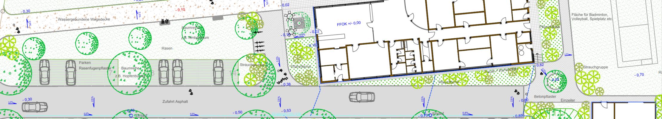 Sportplatz Plan